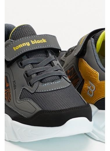 Tonny Black Füme Sarı Çocuk Spor Ayakkabı Tbz31 Füme
